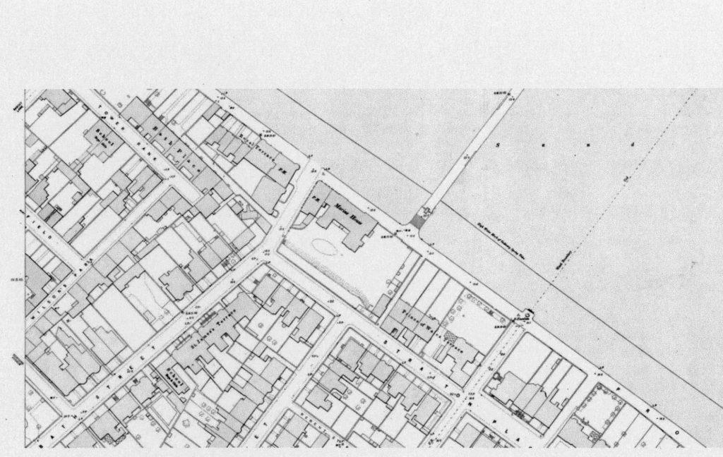 Portobello Street Map 1893 showing Marine House