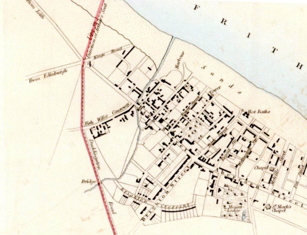 Town Plan 1832 showing the Bath House